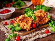 Рецепта Хрупкаво пилешко филе панирано с корнфлейкс печено на фурна